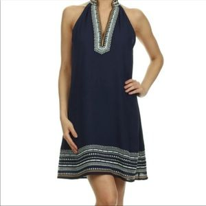THML Anthropologie Chana Embroidered Shift Dress